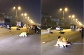 Nam thanh niên phóng xe máy tông Thượng úy CSGT nhập viện