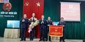 Viện kiểm sát nhân dân tỉnh Thanh Hóa nhận Cờ thi đua của Chính phủ