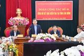 Ban chỉ đạo TƯ về phòng, chống tham nhũng làm việc tại tỉnh Lâm Đồng