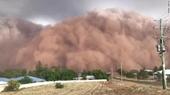 Clip bão bụi kinh hoàng tấn công miền Trung New South Wales, Úc
