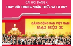 Đại hội Đảng X Thay đổi trong nhận thức và tư duy
