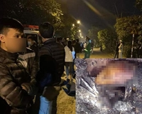 Phát hiện thi thể người đàn ông nghi bị sát hại, đốt xác trong thùng phi ở Hải Phòng