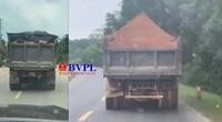 Xe tải chở đất đá có ngọn nghênh ngang trên đường Hồ Chí Minh
