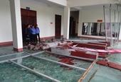Trụ sở VKSND Yên Bái bị thiệt hại nặng do giông lốc, mưa đá