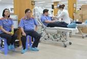 Đoàn viên Viện cấp cao 3 hiến máu nhân đạo