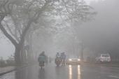 Miền Bắc trời rét và mưa phùn, Hà Nội sáng sớm có sương mù