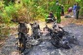 3 xe máy của cán bộ bảo vệ rừng cháy rụi, nghi bị đốt