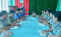 VKSND huyện Châu Thành trực tiếp kiểm sát tại Chi cục THADS