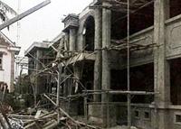 Công trình xây dựng trụ sở UBND xã sập, 1 thợ xây tử vong