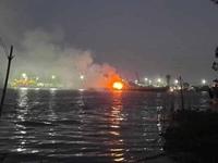 Cháy tàu chở xăng trên sông Đồng Nai, 3 người tử vong