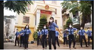 Sôi động clip chống dịch Ghen cô vy của tuổi trẻ VKSND Đống Đa