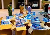 Hà Tĩnh Phát hiện 2 xe ô tô bán tải vận chuyển 50 000 khẩu trang lậu