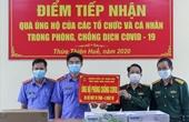 VKSND Thừa Thiên - Huế tặng quà, hỗ trợ công tác phòng chống dịch COVID - 19