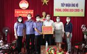 VKSND cấp cao tại Đà Nẵng trao tiền ủng hộ Quỹ phòng chống dịch COVID-19