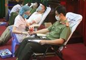 Hơn 1 400 cán bộ, chiến sĩ Công an Đà Nẵng tham gia ngày hội hiến máu