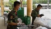 Chiến sĩ quân đội chăm người cách ly