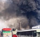 Công ty sản xuất bao bì tại Tiền Giang chìm trong biển lửa