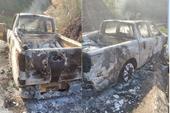 NÓNG Vụ thi thể biến dạng trong ôtô cháy đen trên QL28 Xe của Bí thư Đảng uỷ xã