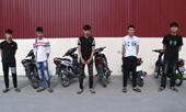 5 thanh niên quê Lúa điều khiển xe máy lạng lách, đánh võng