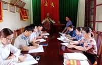 VKSND huyện Nghi Xuân yêu cầu về việc đẩy nhanh tiến độ giải quyết án lưu hạ