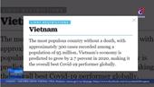 Quốc tế tiếp tục đánh giá cao cuộc chiến chống COVID-19 của Việt Nam