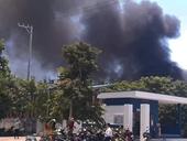 Cháy lớn tại Công ty may Sài Gòn Max, hơn 300m2 nhà xưởng bị thiêu rụi