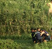 Phát hiện thi thể đàn ông xăm trổ nổi trên sông Thương