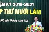 Ông Võ Văn Hưng được bầu giữ chức vụ Chủ tịch UBND tỉnh Quảng Trị
