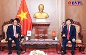 Viện trưởng Lê Minh Trí tiếp Đại sứ đặc mệnh toàn quyền Hàn Quốc tại Việt Nam