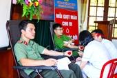 139 cán bộ, chiến sĩ Công an Hà Tĩnh hiến 104 đơn vị máu
