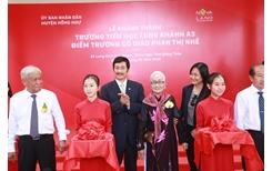 Khánh thành ngôi trường đầu tiên được xây dựng theo chuẩn quốc gia tại xã Long Khánh A, Đồng Tháp