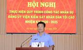 Hội nghị thực hiện quy trình công tác nhân sự Đảng ủy VKSND tối cao