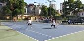 Giải thể thao ngành KSND Các lão tướng quần vợt ra trận giữa trời rực lửa
