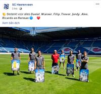 Heerenveen chia tay nhiều cầu thủ, không có tên Văn Hậu