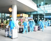 270 chuyên gia Hàn Quốc vừa nhập cảnh qua Cảng hàng không quốc tế Cát Bi