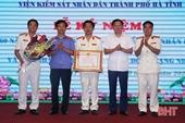 VKSND TP Hà Tĩnh đón nhận Huân chương lao động hạng Nhì