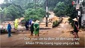 Hà Giang ngập sâu sau mưa lớn