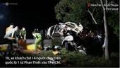 Hiện trường xe khách tông ôtô tải làm 8 người chết