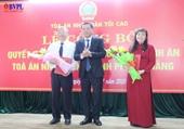 Bổ nhiệm Chánh án TAND Thành phố Đà Nẵng