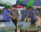 Cận cảnh tiêu hủy 100 bánh heroin tang vật vụ án ở Quảng Ninh