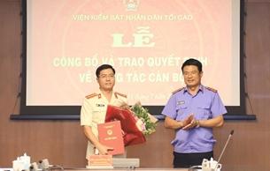 Bổ nhiệm Phó Vụ trưởng Vụ Tổ chức cán bộ, VKSND tối cao