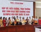 Hải Phòng tặng Bằng khen và 500 triệu đồng cho học sinh đoạt HCV Olympic Hóa học quốc tế