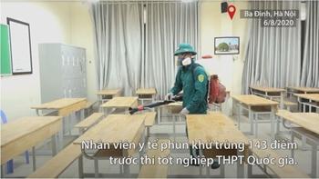Khử trùng hàng trăm điểm thi THPT Quốc gia