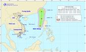 Vùng áp thấp trên khu vực Biển Đông đã mạnh lên thành áp thấp nhiệt đới