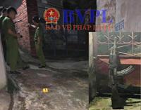 Cận cảnh khẩu súng AK tại hiện trường vụ án mạng 2 người tử vong ở Quảng Ninh