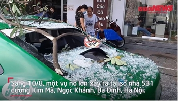 Hiện trường vụ nổ lớn khiến 2 người bị thương ở Hà Nội