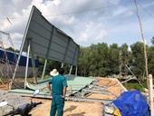 Sập công trình xây dựng, 3 người bị thương