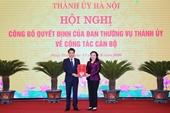 Thành ủy Hà Nội bổ nhiệm tân Trưởng ban Nội chính