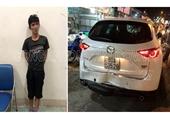 Ngáo đá trộm CX5, lái xe tông Công an khi bị truy bắt