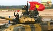 Video kíp thi đấu đầu tiên của Đội Việt Nam tại vòng loại cuộc đua xe tăng tại Army-2020